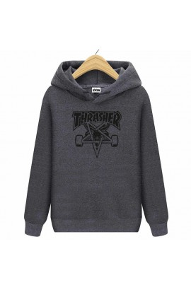 Horn Skateboards Thrasher Sweatshirt Yellow
