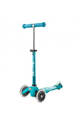 Micro Mini Deluxe Scooter Aqua Led Işıklı